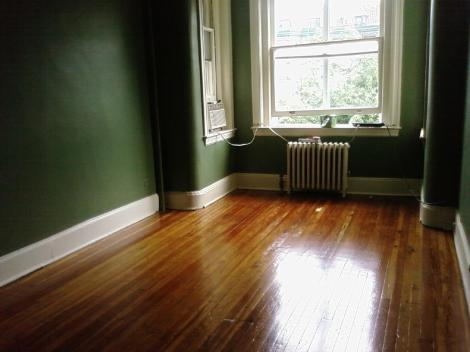 The newly refinished bedroom floors, or, the impetus for solitude.